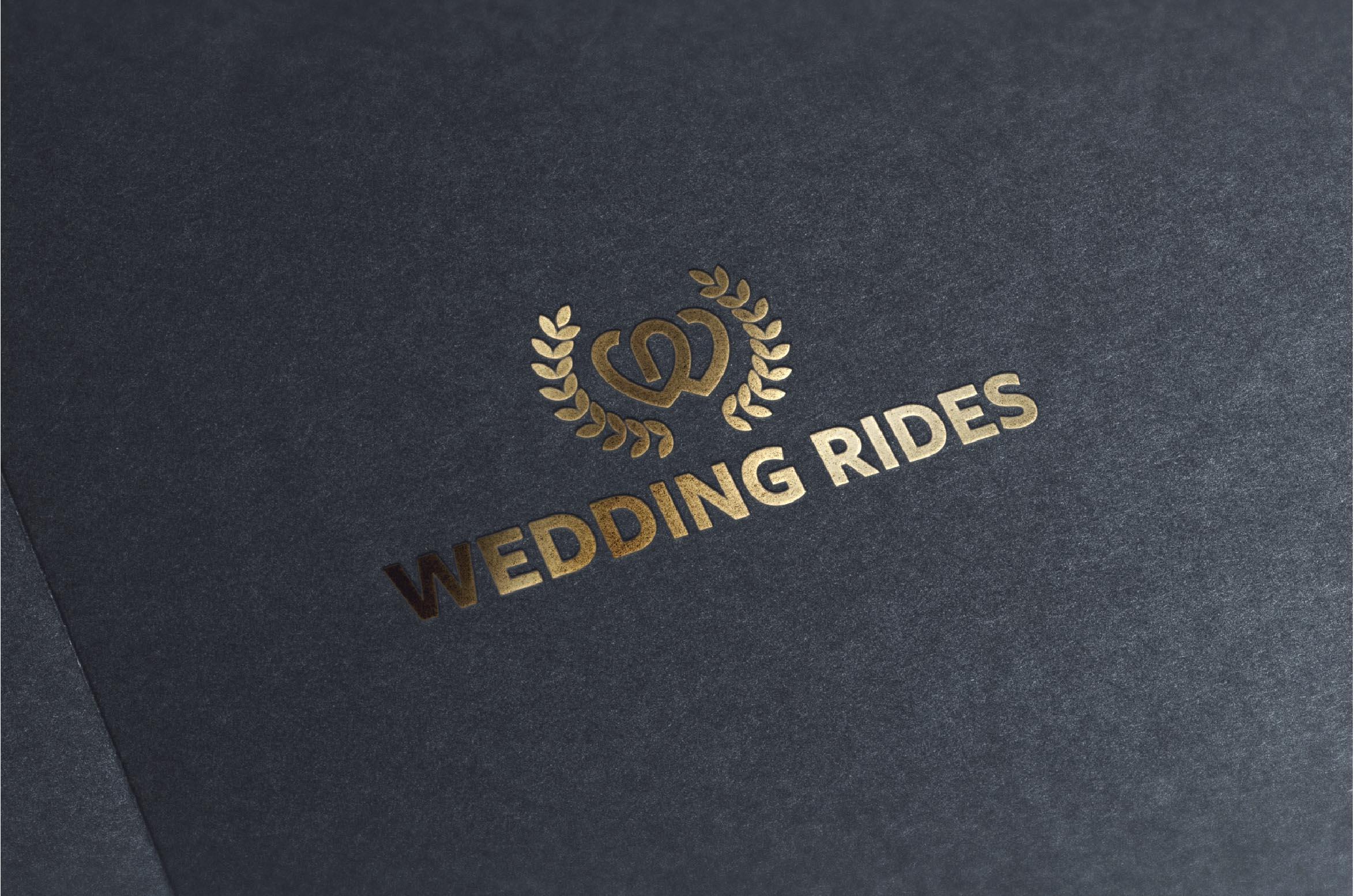 wedding rides logo onmockup