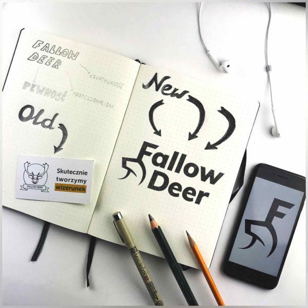 logo sketch fallow deer